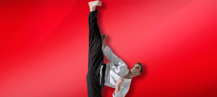 Martial Arts Kick Stretching in Martial Arts